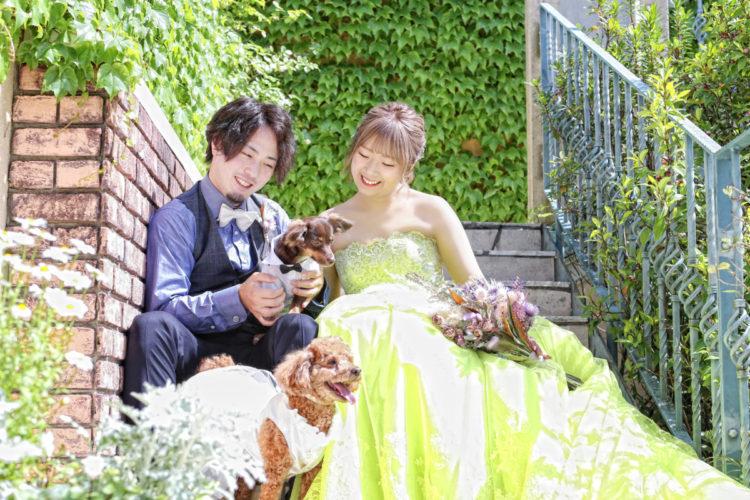 With dog Wedding ~antique &  flower~
